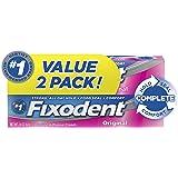 Fixodent Denture Cream. 2.4 Oz each