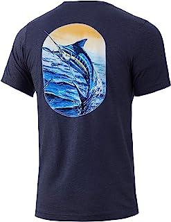 HUK 男式金枪鱼零食T恤