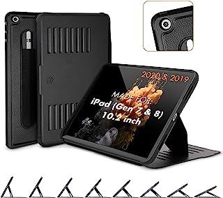 ZUGU CASE (2020/2019) Muse Case 适用于 iPad 7 / 8 代 10.2 英寸保护纤薄磁性支架,*/唤醒盖 - 黑色(适合型号 #s A2197 / A2198 / A2200 / A2270 / A2428 ...