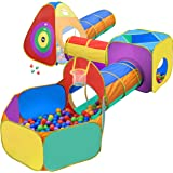 送给幼童男孩和女孩的礼物,球拍,玩耍帐篷和儿童隧道,生日礼物,适合 1 2 3 4 5 岁弹出式婴儿玩具,目标游戏,室内…