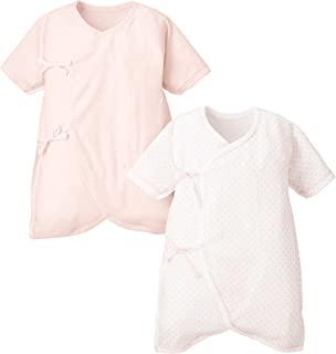 BabyStory 日本制造 新生儿内衣 2件装 圆点 &MERMA加工 50-60厘米 粉色 SF14048-2