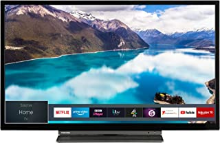 Toshiba 东芝 32L3863 32英寸智能全高清 LED 电视,Freeview Play – 黑色/银色(2018款) 32-Inch 32LL3A63DB