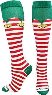 MadSportsStuff 圣诞节短袜,腿肚肚肚以上