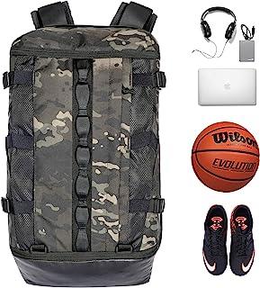 TRAILKICKER 26L 篮球背包,带球隔层,鞋袋和衬垫17英寸(约43.2厘米)笔记本电脑隔层,运动健身包,非常适合足球、排球、游泳、海滩、室内户外、迷彩