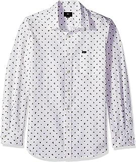 Obey 男式 Darcey 长袖梭织衬衫