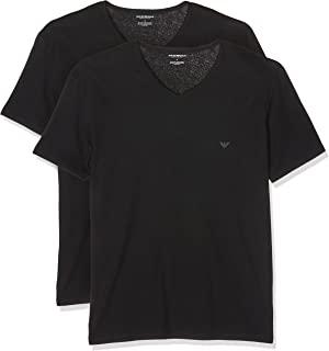 Emporio Armani 男士 2 件装 V 领 V 领 T 恤 11648 CC722 优惠装