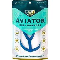 AVIATOR 宠物鸟胸背带和牵引绳:迷你蓝色