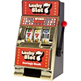 Trademark Gameroom 老虎机硬币库玩具–逼真的桌上迷你型,新奇的拉斯维加斯赌场风格,带儿童和成人(幸运7…