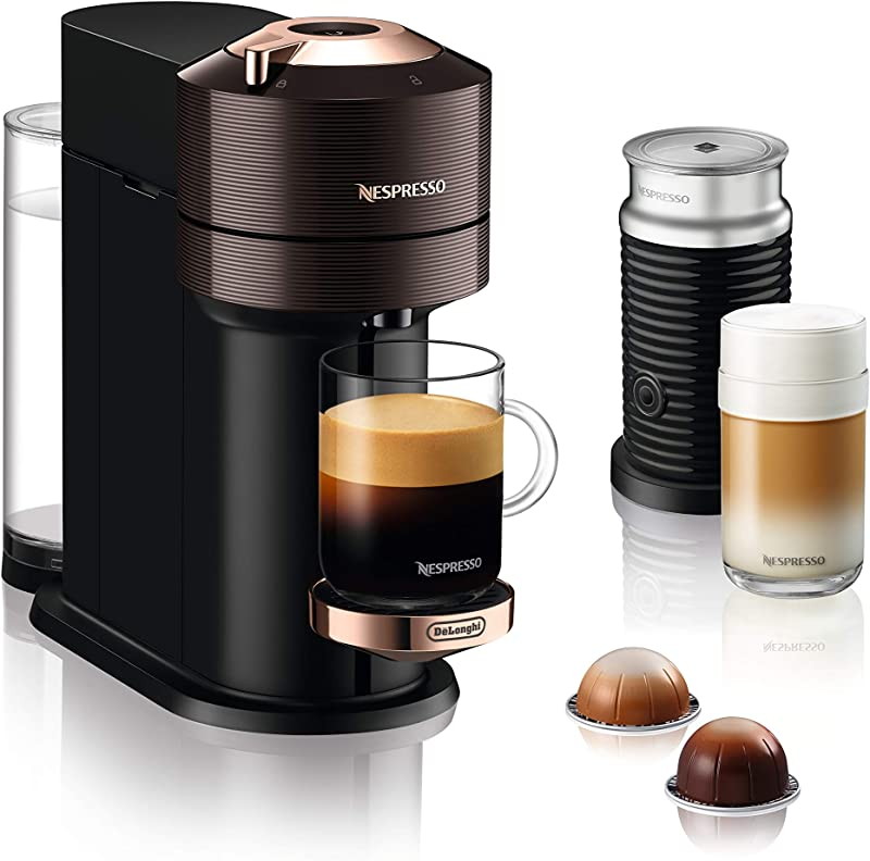 DeLonghi 德龙 Nespresso Vertuo Next ENV120.GYAE 咖啡胶囊机 带Aeroccino奶泡机 镇店之宝¥743.89