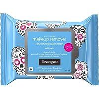 Neutrogena 露得清 卸妆洁面巾,日常面部湿巾可去除污垢、油、防水睫毛膏和化妆,包括顽固的万圣节化妆品,温和,不…