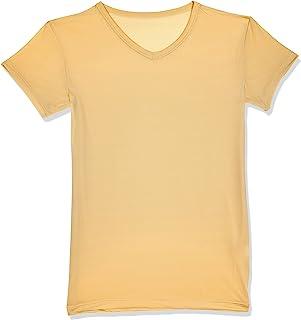 SHINO 黑夜 - 圆领衬衫 - 超细纤维 - 颜色:皮肤,尺寸:S