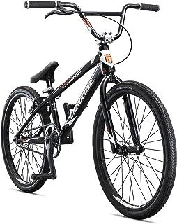 Mongoose Title Elite 24 BMX 赛车,带 24 英寸黑色车轮,适合高级和返回的骑手,采用专业级 6061 Tectonic T1 双轴水压和扣铝框架