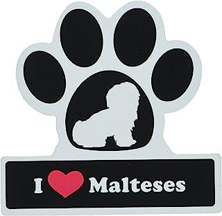 LittleGifts Maltese Paw Car Magnet