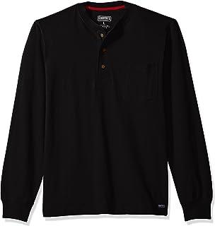 Smith's Workwear 男士厚重棉 3 粒扣亨利针织衫