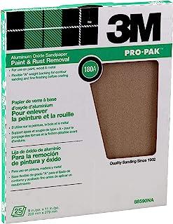 3M Pro-Pak 氧化铝漆板,用于去除油漆和铁锈,9英寸 x 11英寸(约22.86 x 27.94厘米),180A砂砾(88590NA)