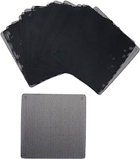 HONJIE 4.9 英寸/120 毫米防尘过滤器电脑风扇厚度 0.5 毫米过滤器冷却器 PVC 黑色防尘保护套电脑网面 20 包