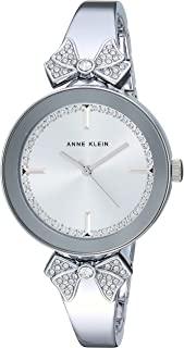 Anne Klein 女士 AK/3337SVSV 施华洛世奇水晶装饰银色手镯手表