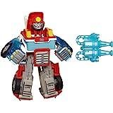 Hasbro 孩之宝 Playskool Heroes 变形金刚救援机器人,为热波带来活力,转换火力转换的玩具擎天柱,适…