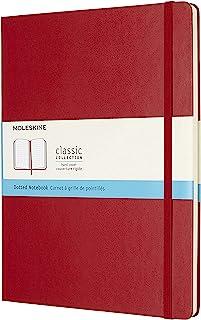 Moleskine 硬面虚线猩红色笔记本 (加大型)