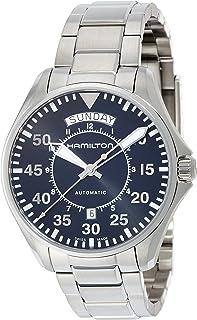 Hamilton 男式 'Khaki Aviation' 瑞士自动不锈钢正装手表,颜色:银色(型号:H64615135)