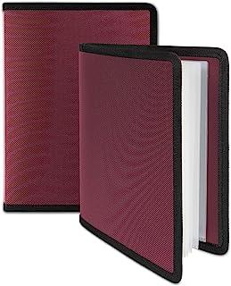 Dunwell 小号相册 4x6 - (红宝石,2 包),24 页可装 48 张图片,4x6 文件夹用于艺术品,明信片或图片存储的艺术书,4 x 6 张图片相册