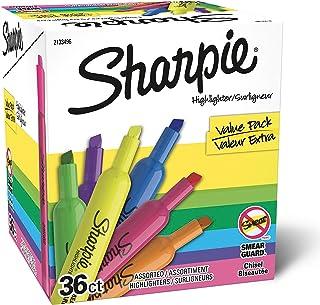 Sharpie Tank 荧光笔 凿尖 多色荧光笔 超值装 36 支装