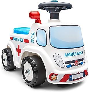 FALK – 救护车 – 12个月以上的方向盘 带喇叭 – 杠杆带搭扣效果 – 收纳盒 – 车牌可定制 – 701