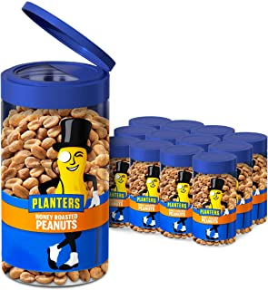 Planters Honey Roasted Peanuts, 7 Oz Jar (Pack Of 12), 4.388 Lb
