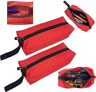 防水空拉链重型帆布袋 适用于小工具 / 螺丝钉和螺母重型收纳包 适用于男士和女士多功能