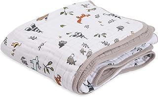 小独角兽棉质平纹细布被子毯子 森林伙伴