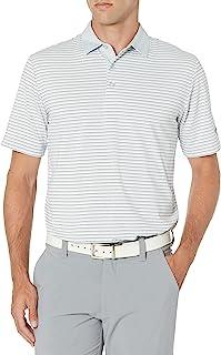 Callaway 男式 3 色条纹短袖高尔夫 Polo 衫