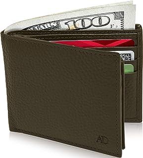 Access Denied Mens Leather Bifold Wallet RFID Blocking