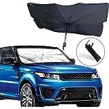 EcoNour 汽车挡风玻璃遮阳罩 | 可折叠反射伞遮阳伞,适用于汽车,防紫外线遮阳板,遮阳伞让您的车辆保持凉爽和损坏…