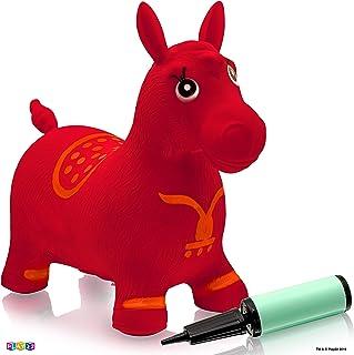 Play22 马跳球红色 – 充气式马跳椅免费泵 – 儿童及幼儿的弹力马玩具,非常适合室内和室外玩具玩耍 – 送给男孩和女孩的*佳礼物