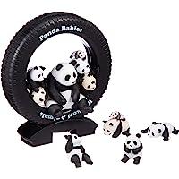 放松的动物亲子系列 一群熊猫宝宝