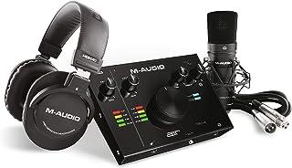 M-Audio USB 音频接口 完全声乐制作套装 M-Track 2x2 Vocal Studio PRO