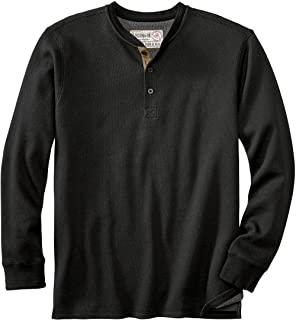Legendary Whitetails 男式 Tough as Buck 双层保暖亨利衫 - 休闲长袖华夫格针织常规版型