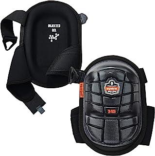 Ergodyne ProFlex 345 专业护膝,保护性长帽,注入凝胶衬垫技术,可调节肩带,黑色