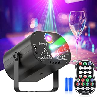 Joguly 激光灯、舞台灯、派对灯 DJ 迪斯科声音激活 RGB LED 投影仪带遥控器,圣诞万圣节装饰礼物生日婚礼卡拉 OK KTV 酒吧