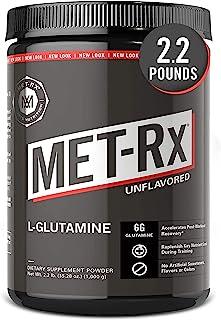MET-Rx 美瑞克斯 L-谷氨酰胺粉,1000g, 运动后氨基酸营养补充剂