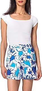 Love Moschino 女士 宽版印花 Hearts and Splash 标志休闲短裤