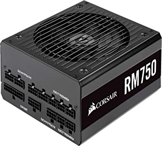 Corsair RM750, RM Series, 80 Plus Gold Certified, 750 W Fully Modular ATX Power Supply - Black