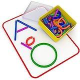 Osmo 小天才棒和戒指-2个游戏-ABCs和Squiggle Magic-3-5岁-想象力、字母形成、精细运动技能和创…