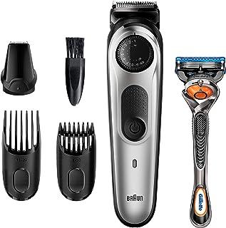 BRAUN 博朗 胡须修剪器 BT5260,男士理发器,无绳,可充电,迷你剃须刀,细节修剪器,带有 Gillette ProGlide 剃须刀