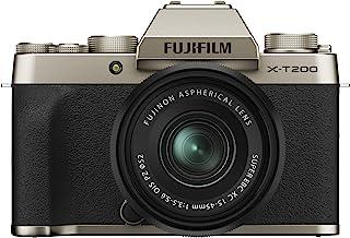 Fujifilm X-T200 镜相机机身16646105  w/ XC15-45mm Kit 香槟金