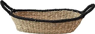 Bloomingville 海草手柄和黑色饰边,天然篮子