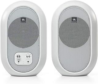 JBL Professional 1系列 104-BT 紧凑型台式参考显示器,具有蓝牙功能,白色,成对出售(JBL104-BT-WH)