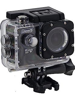 Coleman CX14WP Conquest3 4K 超高清运动相机,带有防水外壳和底座,黑色