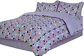 Divatex 圆点超细纤维全床包袋 紫色 两个 332694T