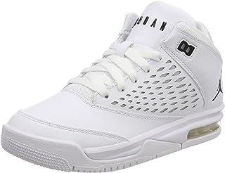 Nike Unisex Kids' Jordan Flight Orgin 4 (Gs) Basketball Shoes, White (White/Black 100), 3.5 UK 3.5UK Child
